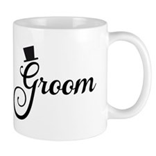 Groom text design with hat Mugs
