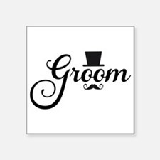 Groom with hat and mustache Sticker