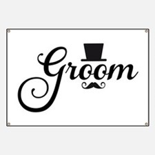 Groom with hat and mustache Banner