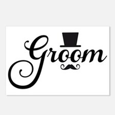 Groom with hat and mustache Postcards (Package of