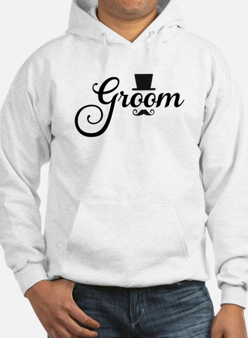 Groom with hat and mustache Hoodie