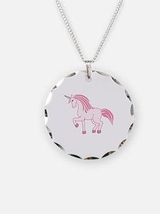 Pink Unicorn Necklace