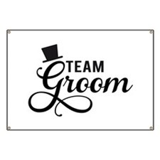 Team Groom with hat Banner