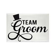 Team Groom with hat Magnets
