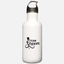 Team Groom with hat Water Bottle