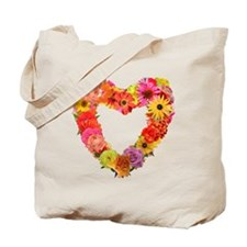 Eileen's Floral Heart Tote Bag
