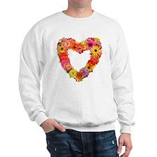 Eileen's Floral Heart Sweatshirt
