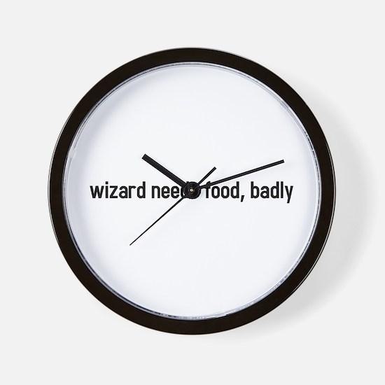 wizard needs food, badly Wall Clock