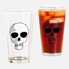 Alas skull design Drinking Glass