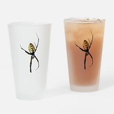 Yellow Banana Spider Drinking Glass