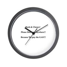 Cute Gas prices funny Wall Clock
