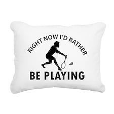 Badminton designs Rectangular Canvas Pillow