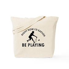 Badminton designs Tote Bag