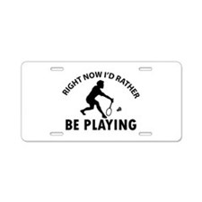 Badminton designs Aluminum License Plate