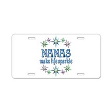 Nanas Sparkle Aluminum License Plate