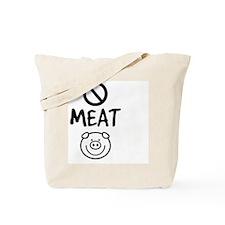 Eat No Meat Tote Bag