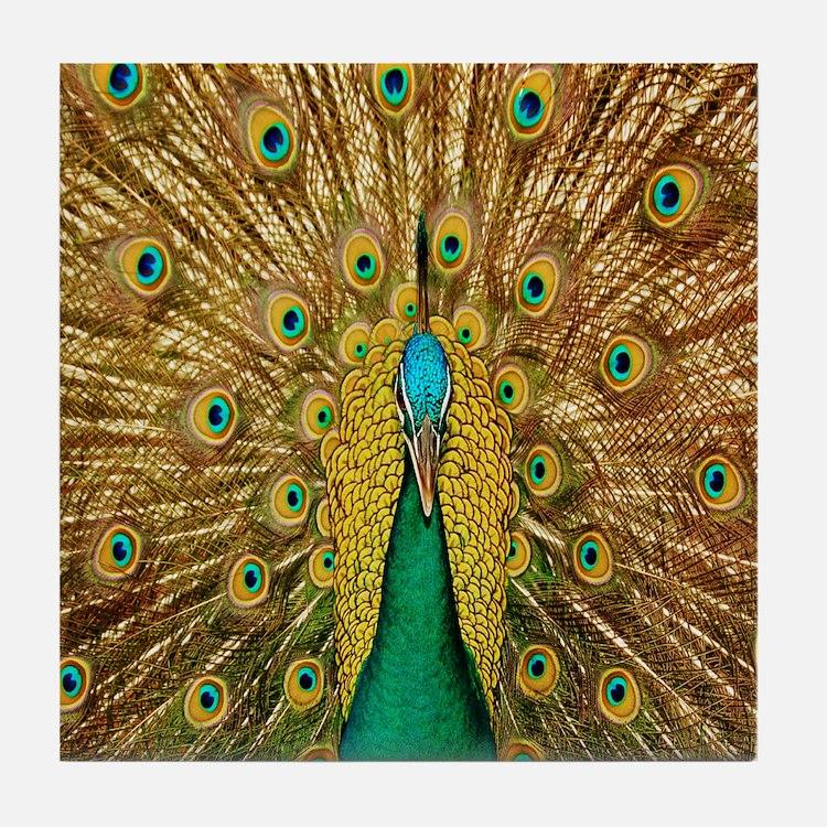 Peacock Tile Coaster