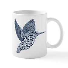 celtic knot king fisher dark blue Mugs