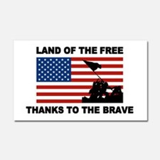 Land Of The Free Thanks To The Brave Car Magnet 20