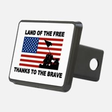 Land Of The Free Thanks To The Brave Hitch Cover