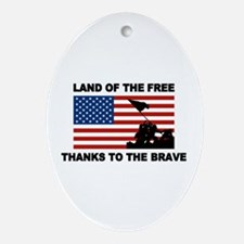 Land Of The Free Thanks To The Brave Ornament (Ova