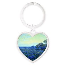 Onderdonk - Field of Bluebonnets Heart Keychain
