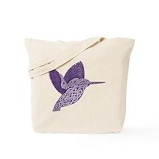 celtic knot kingfisher purple Tote Bag