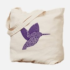 celtic knot kingfisher purple Tote Bag