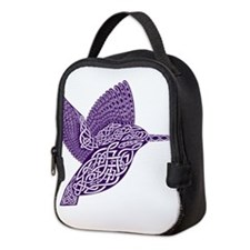 celtic knot kingfisher purple Neoprene Lunch Bag