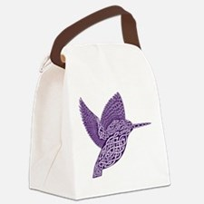 celtic knot kingfisher purple Canvas Lunch Bag