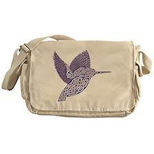 celtic knot kingfisher purple Messenger Bag
