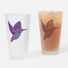 celtic knot kingfisher purple Drinking Glass