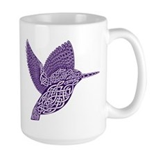 celtic knot kingfisher purple Mugs