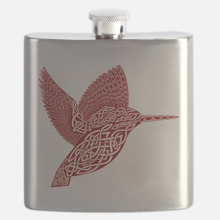 celtic king fisher red Flask