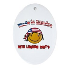Made in the USA with Liberian Oval Ornament