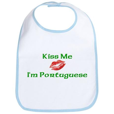 Kiss Me I'm Portuguese Bib