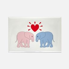 Valentine Elephants Magnets