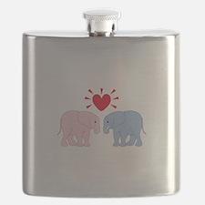 Valentine Elephants Flask