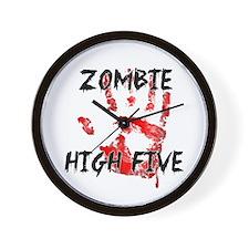 Zombie High Five Wall Clock