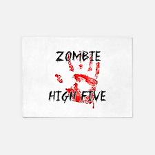 Zombie High Five 5'x7'Area Rug