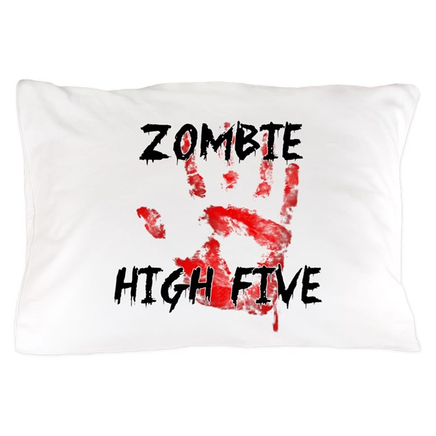 Zombie High Five Pillow Case By Zombiesahead