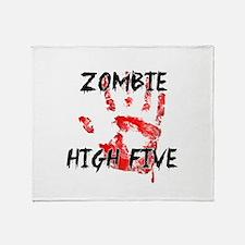 Zombie High Five Throw Blanket