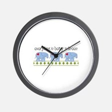 Everything Is Better In Threes Wall Clock