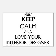 Keep Calm and Love your Interior Designer Postcard