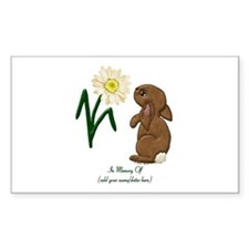 Memory Of-Bunny Daisy Rectangle Decal