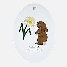 Memory Of-Bunny Daisy Oval Ornament