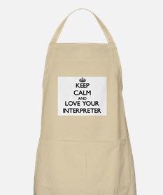 Keep Calm and Love your Interpreter Apron