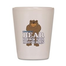 Bear Down Midterms Shot Glass