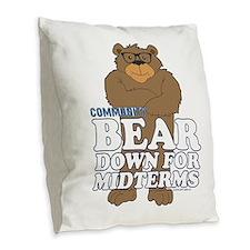 Bear Down Midterms Burlap Throw Pillow