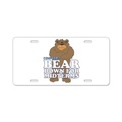 Bear Down Midterms Aluminum License Plate